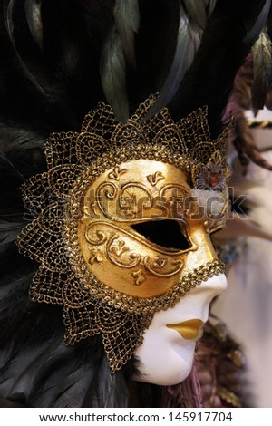 Carnivale Mask, Venice - stock photo