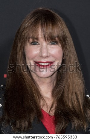 Caroline Williams attends Gangster Land Premiere at Egyptian Theater, Hollywood,  California on November 29 2017