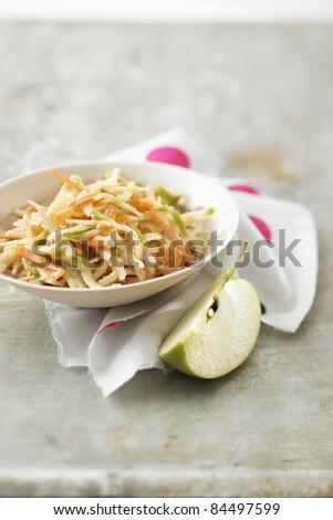Carot, green apple and celeriac remoulade - stock photo