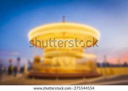 Carousel background. Blurry. - stock photo