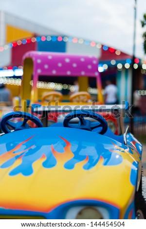 Carousel car - stock photo