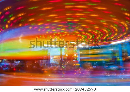 carousel. motion abstract - stock photo