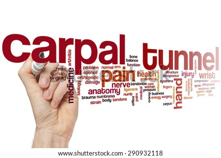 Carpal tunnel word cloud concept - stock photo