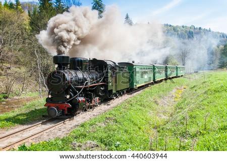 Carpathian Forest Railway - stock photo