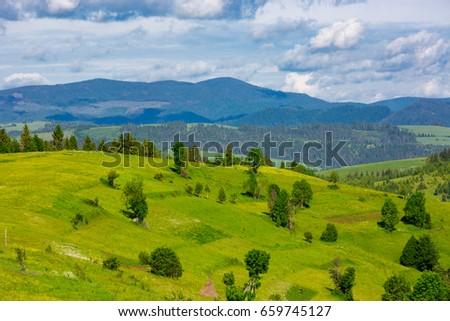 Carpathians mountain landscape in nice day