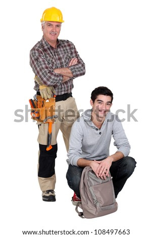 Carpenter and a college student