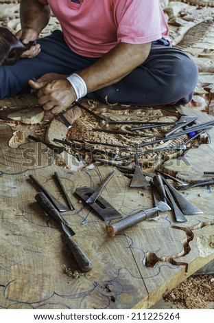 Carpenter and carve work and crafts handmade