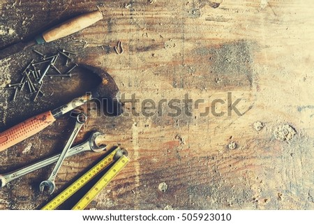 Carpenter Craftsman Lumber Timber Woodwork Concept