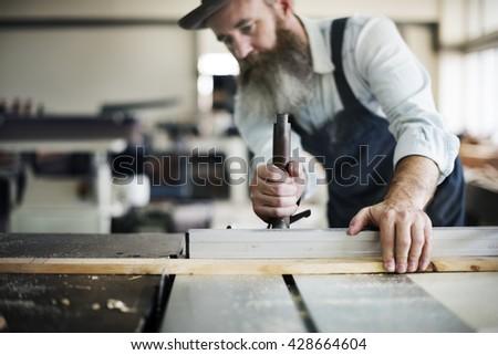 Carpenter Craftsmanship Carpentry Handicraft Wooden Concept - stock photo