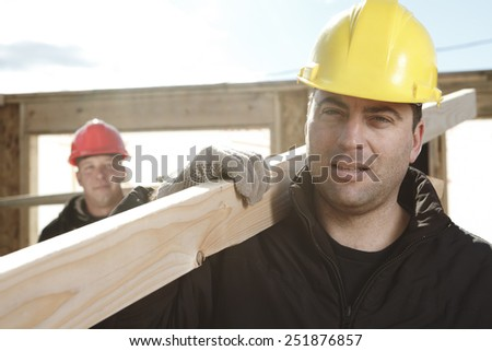 carpenter photo - A construction  men working outside