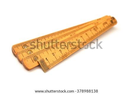 carpenter's measuring tool, ruler  - stock photo