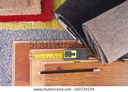 carpet and flooring. carpet and laminate choice for interior flooring