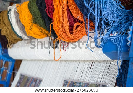 carpet loom - stock photo