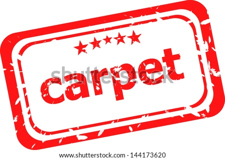 carpet on red rubber stamp over a white background, raster