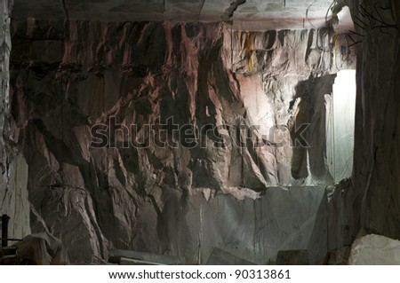 carrara quarry - stock photo