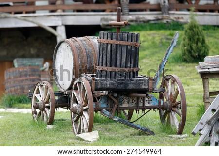 Carriage barrel - stock photo