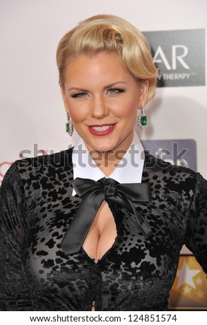Carrie Keagan at the 18th Annual Critics' Choice Movie Awards at Barker Hanger, Santa Monica Airport. January 10, 2013  Santa Monica, CA Picture: Paul Smith - stock photo