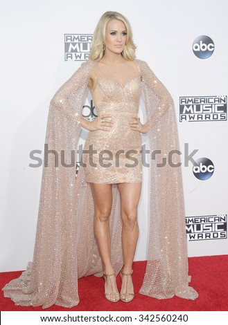 Carrie Underwood at the 2015 American Music Awards held at the Microsoft Theater in Los Angeles, USA on November 22, 2015. - stock photo