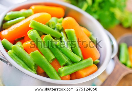carrot and green beans - stock photo