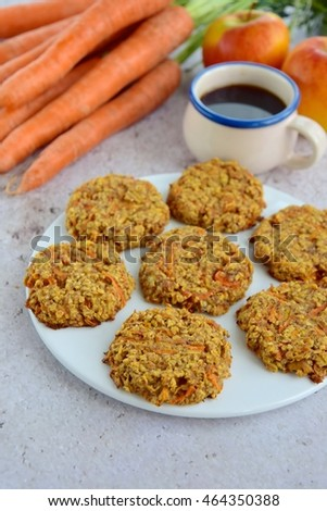 Carrot apple cookies for coffee time