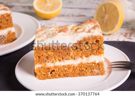 Carrot Cake. - stock photo