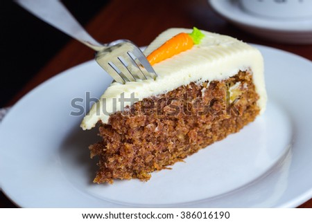Carrot Cake with Whipped Frosting - stock photo