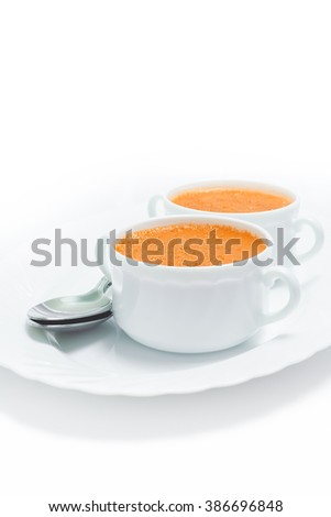 carrot cream soup isolated