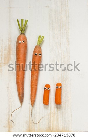 carrot family - stock photo