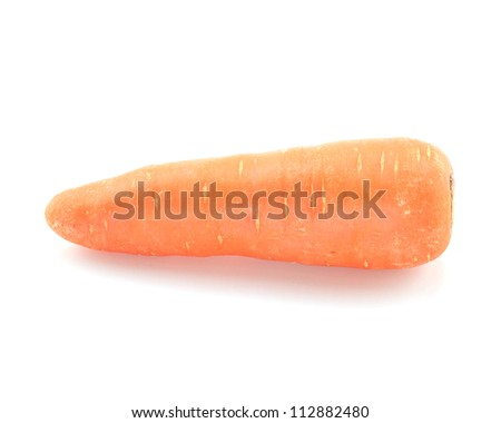 Carrot isolated on a white background. - stock photo