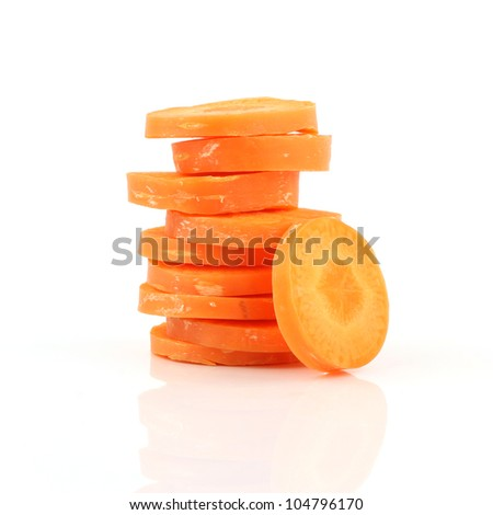Carrot Isolated On White Background - stock photo