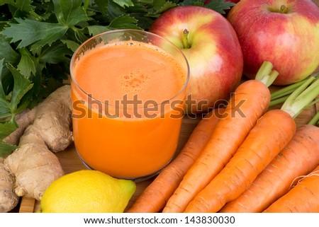Carrot juice - stock photo