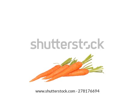 Carrot juice and slices of carrot isolated on white - stock photo
