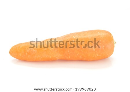 Carrot on white background