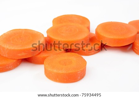 carrot piece - stock photo