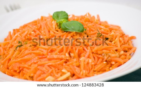 carrot salad - stock photo