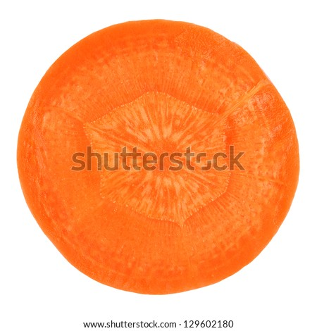 Carrot slice isolated on white - stock photo