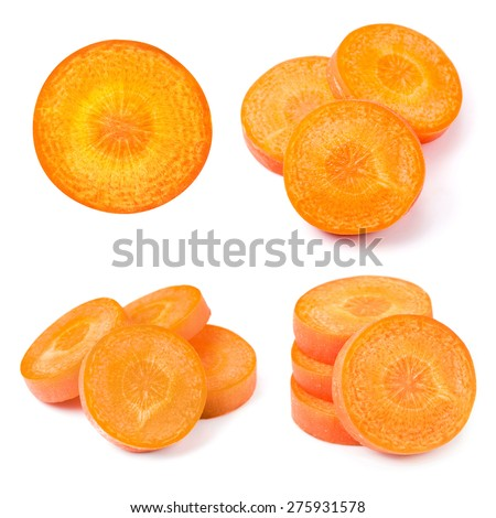 Carrot slice isolated on white