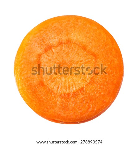 Carrot slice isolated on white. With clipping path. - stock photo