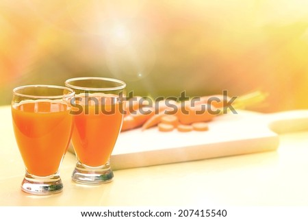 Carrot smoothie - Carrot juice  - stock photo