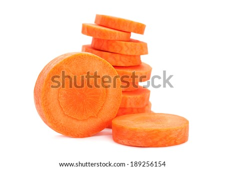 Carrot vegetable isolated on white background - stock photo