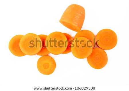 carrots on white background - stock photo