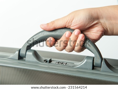 Carry the bag  - stock photo