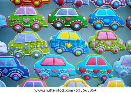 Cars cookies, Birthday celebration decor , Automobile toy for kids