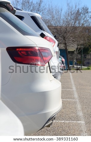 Cars in the parking - stock photo