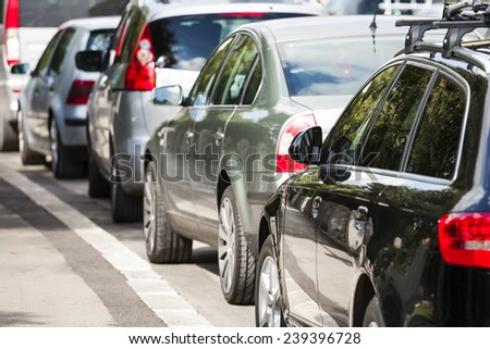 Cars in traffic. Cars in the city. - stock photo
