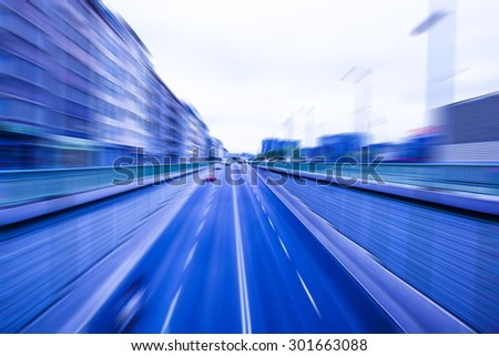 cars on highway by day ,abstract speed trace,abstract speed background