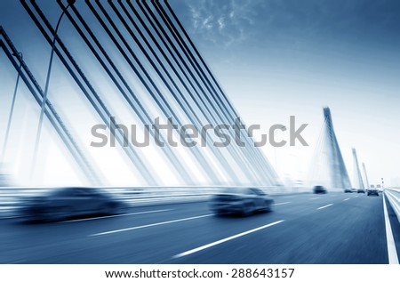 Cars with the modern bridge