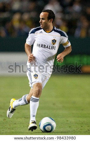 CARSON, CA. - MAY 14:  Los Angeles Galaxy F Landon Donovan #10 in action during the MLS game on May 14 2011 at the Home Depot Center.