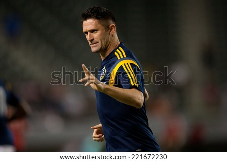 CARSON, CA - OCT 4: Los Angeles Galaxy forward Robbie Keane during the Los Angeles Galaxy MLS game against Toronto FC on Oct 4th, 2014 at the StubHub Center. - stock photo