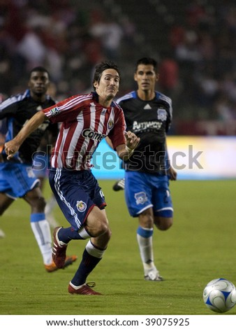 CARSON, CA. - OCTOBER 17: Sacha Kljestan on a breakaway during the Chivas USA vs. San Jose Earthquakes match at the Home Depot Center on October 17, 2009 in Carson.